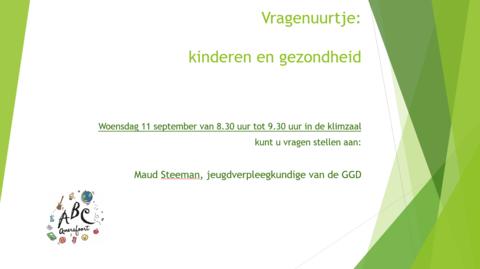 Vragenuurtje Maud Steeman 11-9-2019